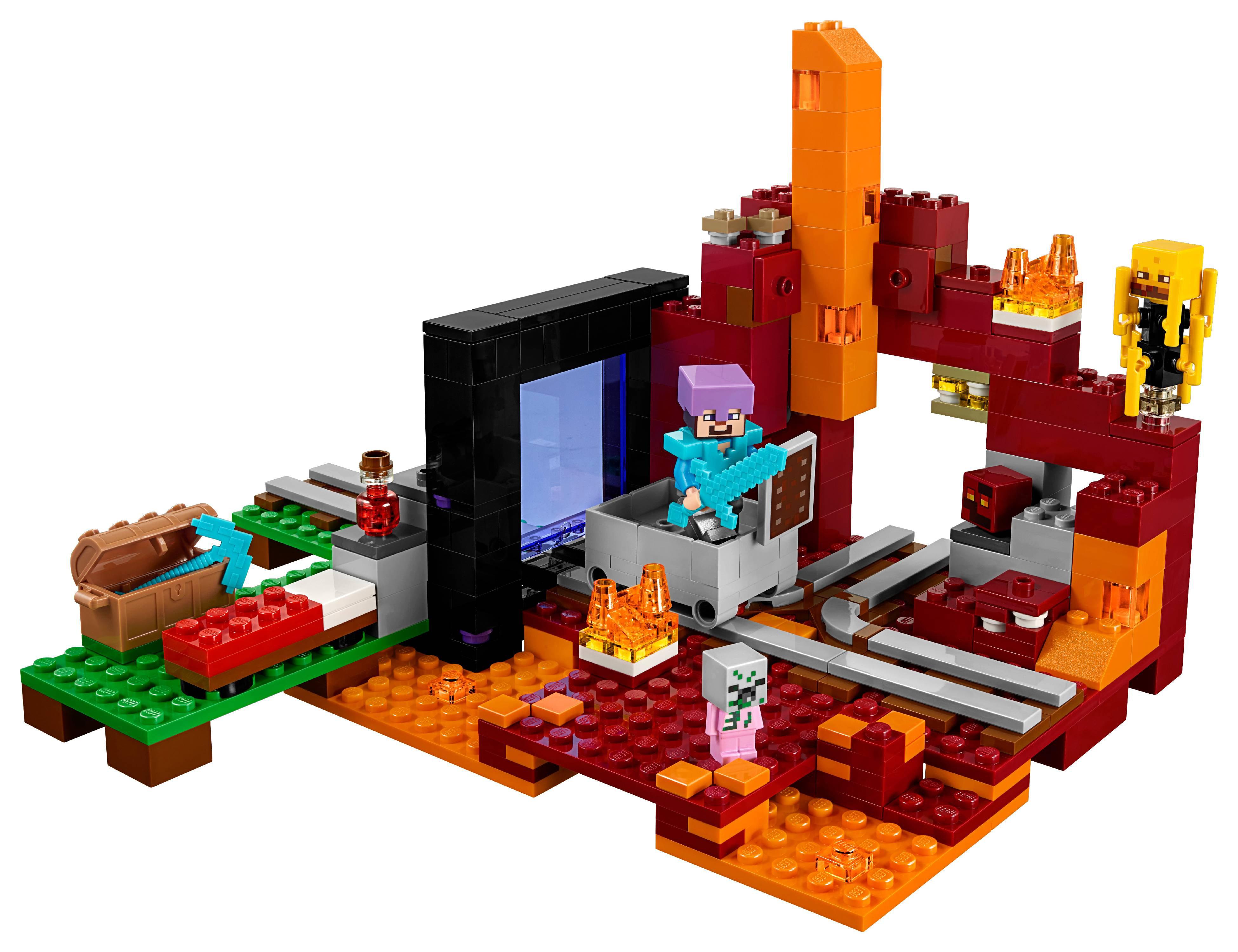 470 Pcs NEW LEGO Minecraft The Nether Portal 21143 Building Toy Set