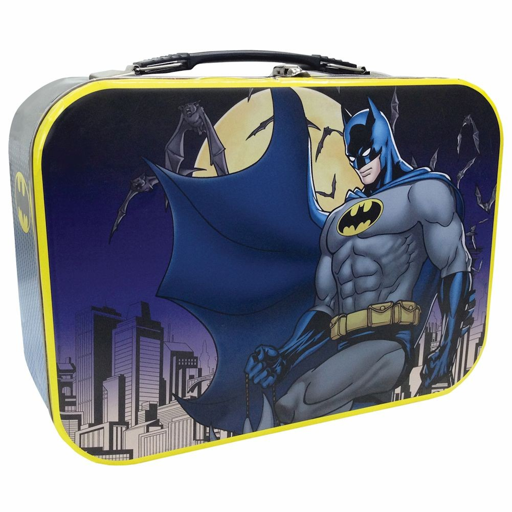 Dc Comics Batman Protecting Gotham City Tin Tote Metal Lunch Box