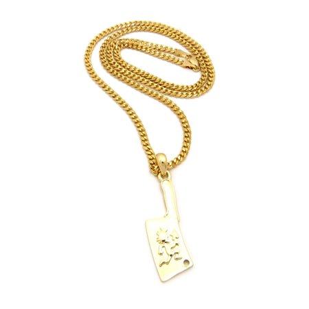 Hatchetman within hanging hatchet pendant 3mm 24 diamond cut cuban hatchetman within hanging hatchet pendant 3mm 24 diamond cut cuban chain necklace in gold tone walmart aloadofball Gallery