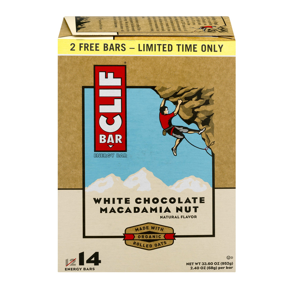 Clif Bar White Chocolate Macadamia Nut - 14 CT