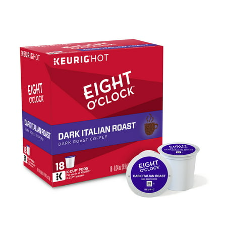 Eight O'Clock Dark Italian Roast K-Cups Coffee, 18 count