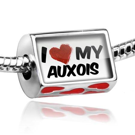 Bead I Love My Auxois  Horse Charm Fits All European Bracelets