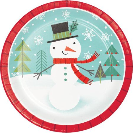 Paper Snowman (Creative Converting Winter Snowman Paper Plates, 8)