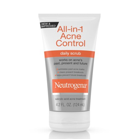 Neutrogena All-In-1 Acne Control Daily Scrub Acne Treatment 4.2 fl.