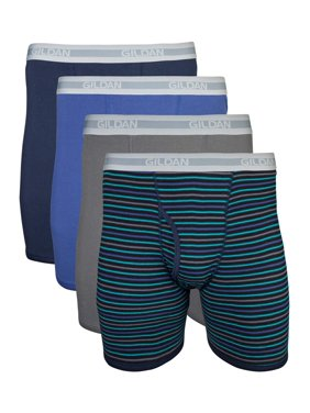 Gildan Big Men's 2XL Assorted Regular Leg Boxer Brief, 4-Pack