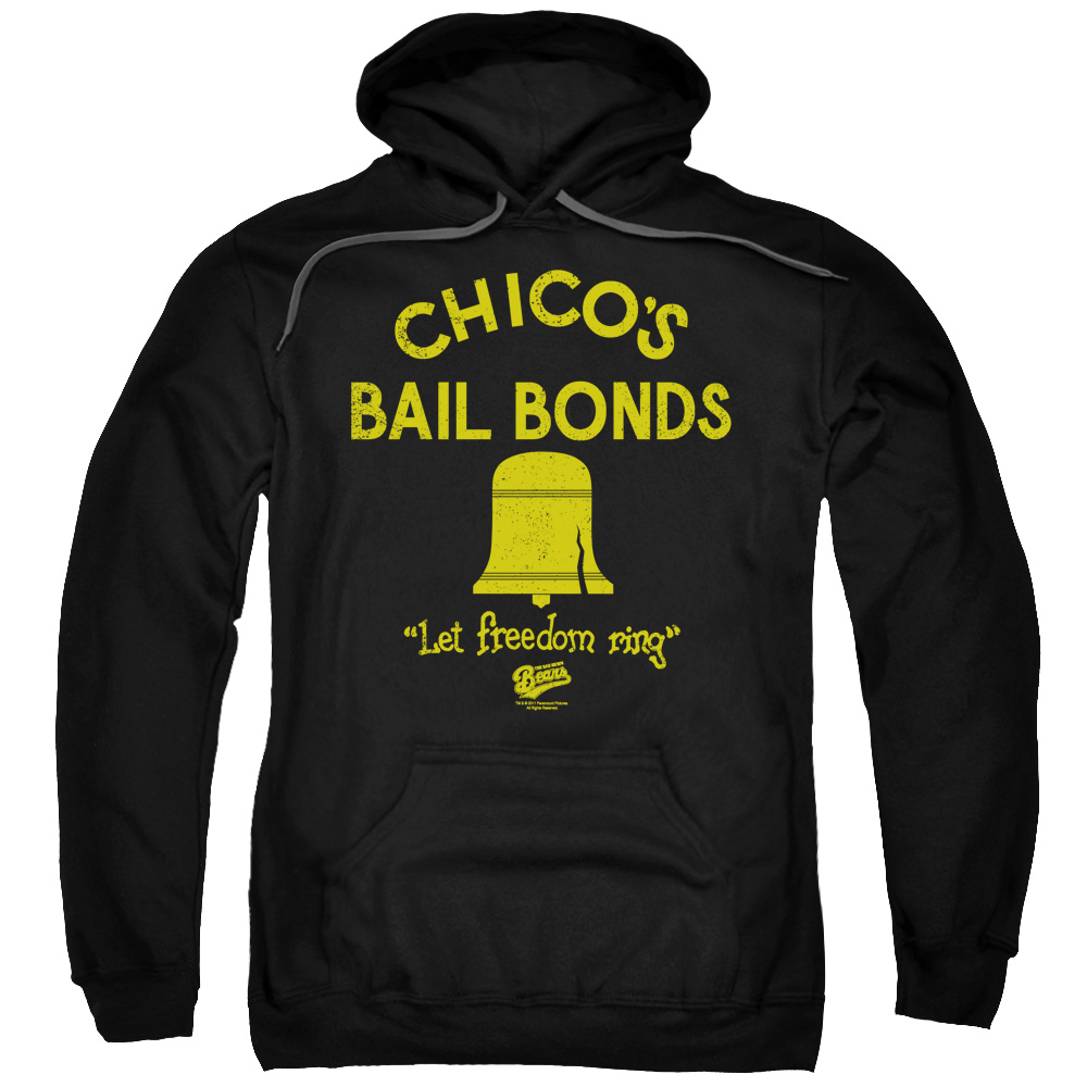 BAD NEWS BEARS/CHICO'S BAIL BONDS-ADULT PULL-OVER HOODIE-BLACK-LG