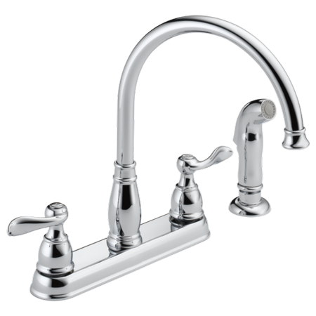 Delta Windemere Two Handle Kitchen Faucet in Chrome