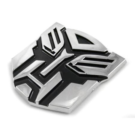 "TRANSFORMERS AUTOBOTS 5"" LARGE 3D EMBLEM - CHROME/BLACK"