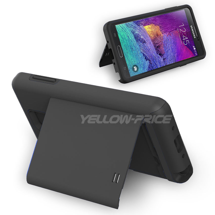 LIVEDITOR NEWCard Pocket Wallet Slim Case Kick-Stand Cover for Samsung Galaxy Note 4 N9100 - image 3 of 6