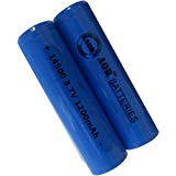 AOR POWER - #AOR198, 2Count 3.7 Volt 14500 1200mah Rechargeable Lithium Ion Batteries (1 Charger and 2 Rechargeable -