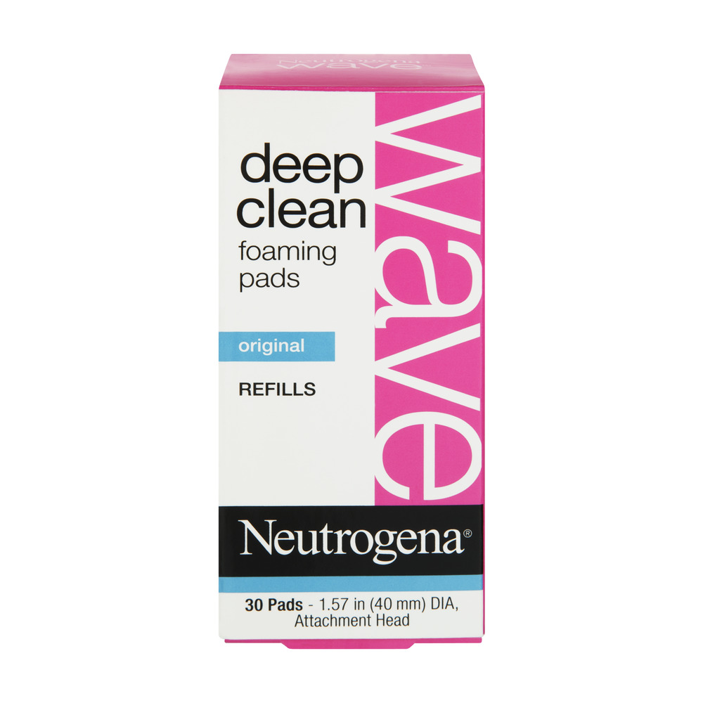 Neutrogena Wave Deep Clean Foaming Pads Refills - 30 CT