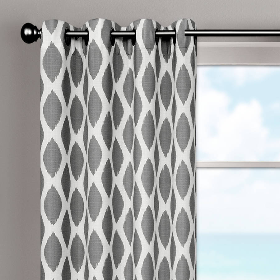 Ikat curtain panels - Better Homes And Gardens Ikat Diamonds Curtain Panel With Grommets Walmart Com