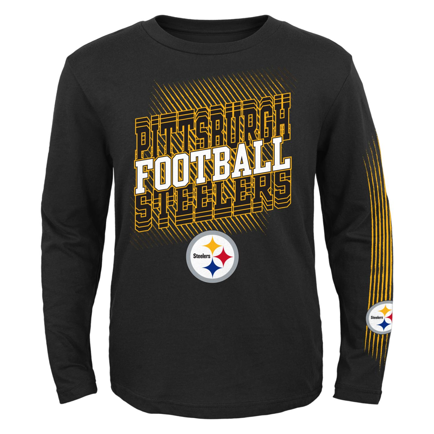 "Pittsburgh Steelers Youth NFL ""Frequency"" Long Sleeve T-Shirt"