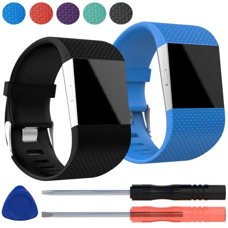 2-pack Replacement Silicone Band Wrist Strap Bracelet w/Tool Kit for Fitbit Surge