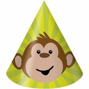 Creative Converting Monkeyin' Around Party Hats