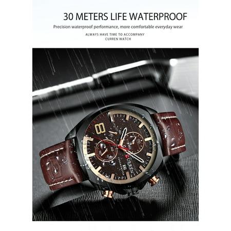 CURREN 8324 Man Quartz Sport Watch Brand Fashion Casual Male Multi-function Waterproof Wristwatch - image 3 of 7