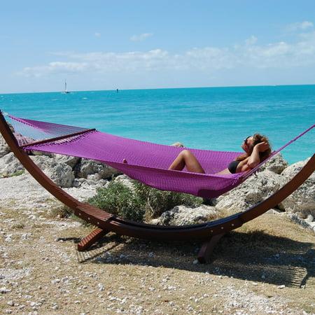 Jumbo Caribbean Hammock- (Purple Hammock)