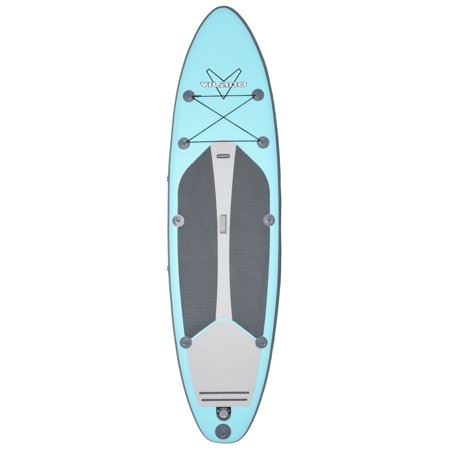 "Vilano Navigator 10' 6"" Inflatable SUP Stand Up Paddle Board Package, Gauge, Paddle, Fins, Leash and Bag Included"