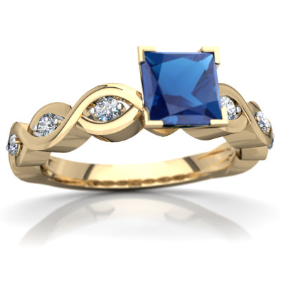 London Topaz Infinity Engagement Ring in 14K Yellow Gold