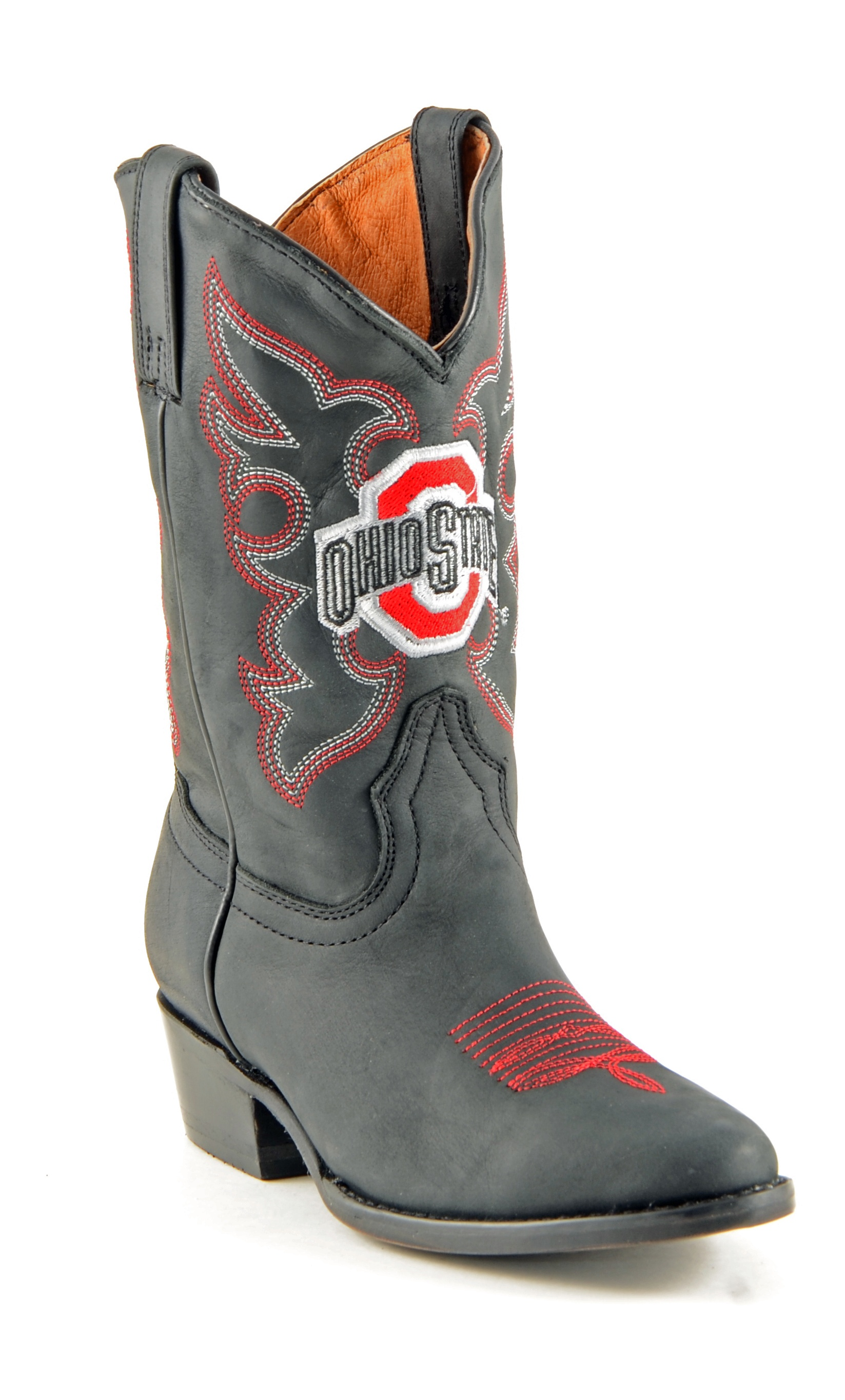 Gameday Boots Boys Cowboy College Team Ohio State Black OST-B020-2