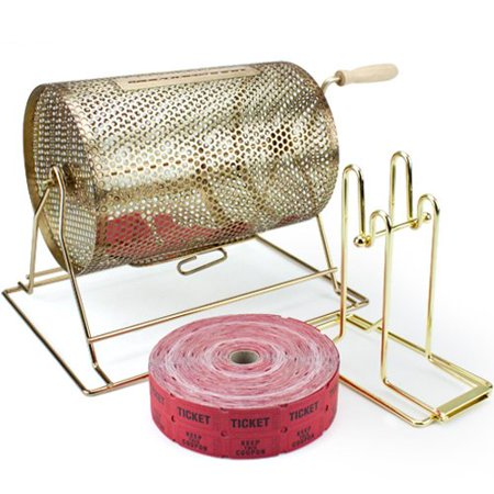 Midway Monsters Raffle Party Starter Kit: Drum, Tickets, and Dispenser - Party Tickets