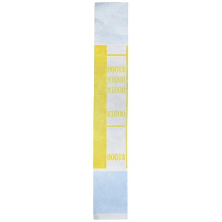 PM™Walmartpany Currency Bands, $1000.00, Pack Of 1000, Currency straps are manufactured and color-coded to Federal Reserve and American.., By PMWalmartpany ()