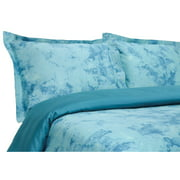 Elite Home Horizons 300 Thread Count Bedding Set - Twin - Blue - Duvet Set Only