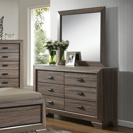 Acme Furniture Lyndon Weathered Gray Grain Dresser with Six Drawers ()