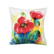 Home Locomotion Tulip Watercolor Pillow