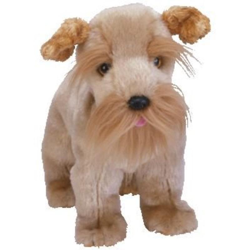 Ty Beanie Baby Schnitzel The Schnauzer Dog Plush Stuffed Animal