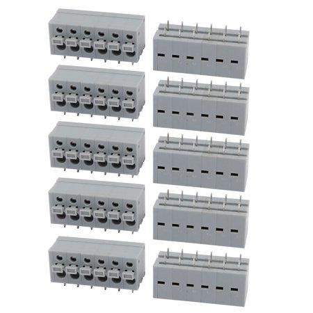 10pcs KF211R 300V 10A 5.0mm Pitch 6P Spring Terminal Block for PCB Mounting - image 2 of 2