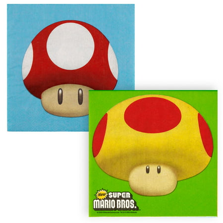 Super Mario Bros. Lunch Napkins, 20pk