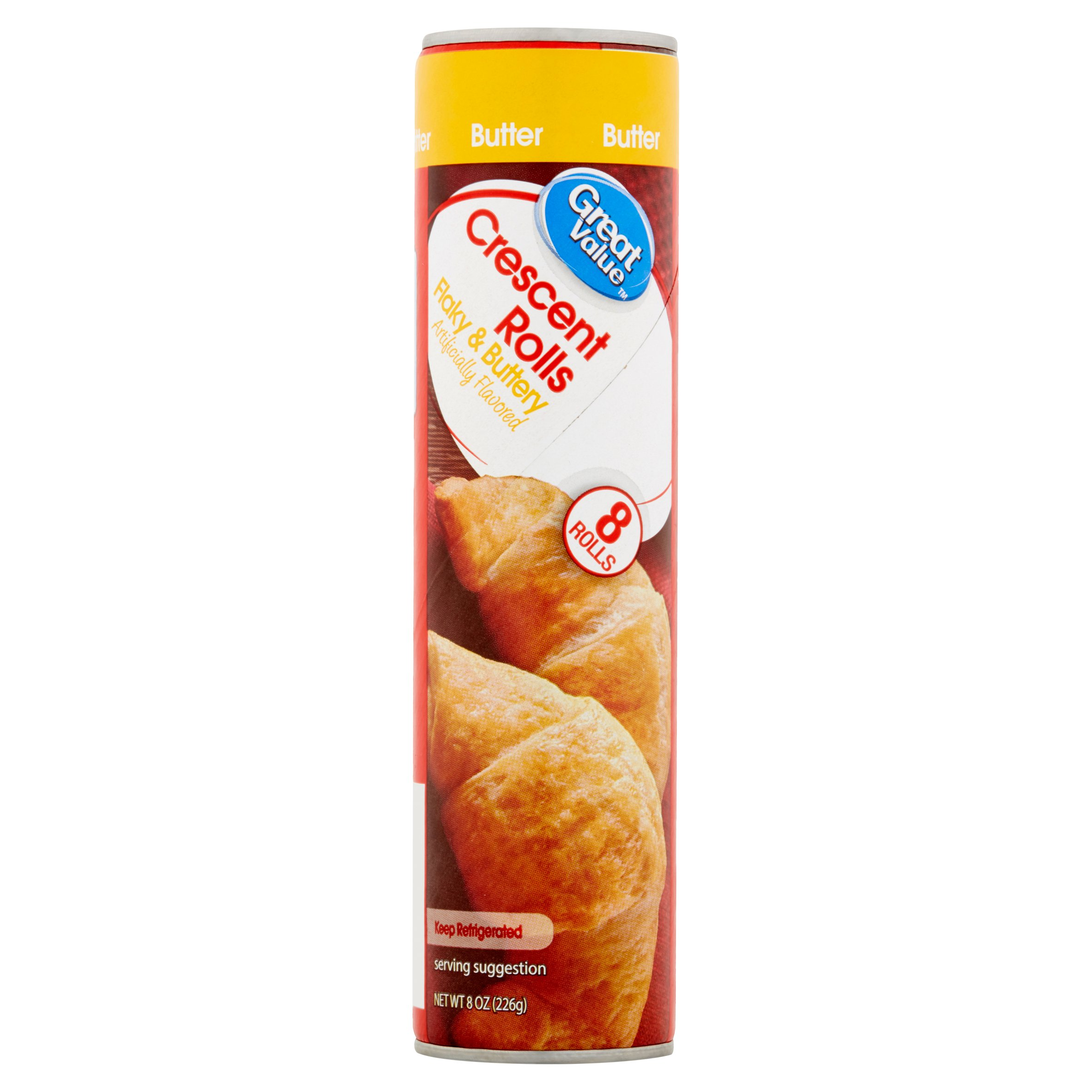 Great Value Flaky & Buttery Crescent Rolls, 8 count, 8 oz