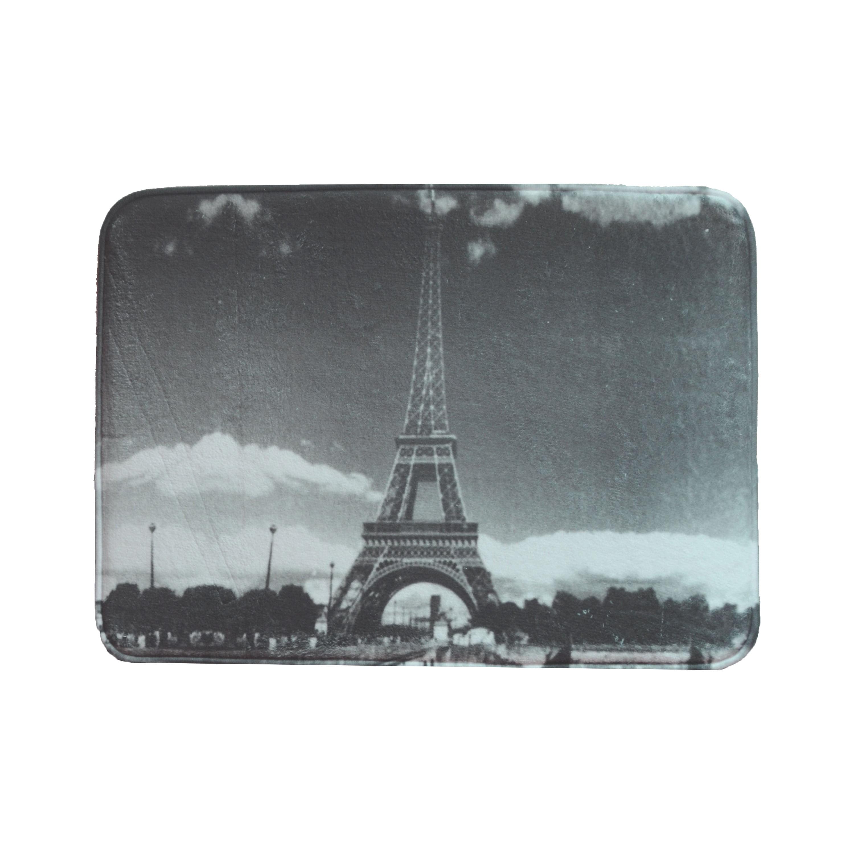 Single 1 Memory Foam Bathroom Step Out Mat Paris Night Sky Eiffel Tower Non Skid Backing 17 X 24 Walmart Com Walmart Com