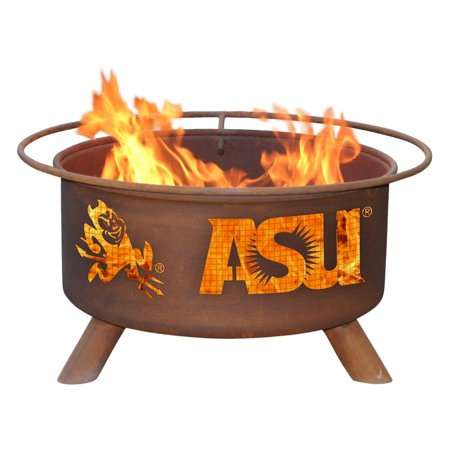 Patina 31 in. College Fire Pit with Grill and FREE Cover