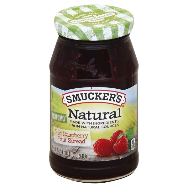Smucker's Natural Red Raspberry Fruit Spread, 17.25-Ounces