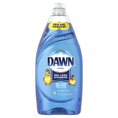 Dawn Ultra Liquid Dish Soap, Original Scent, 40 Fl Oz Lemon Scent Dishwashing Liquid