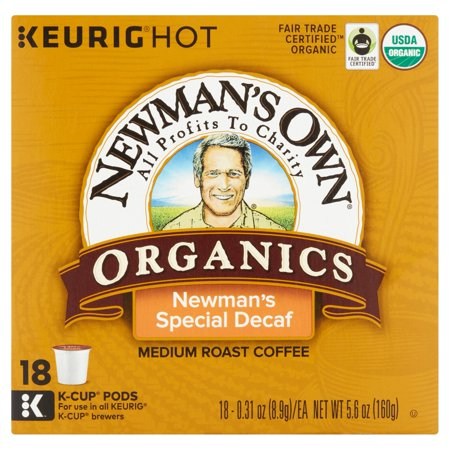 Newmans Own Special Decaf Coffee Pods Coffee  18 Pods