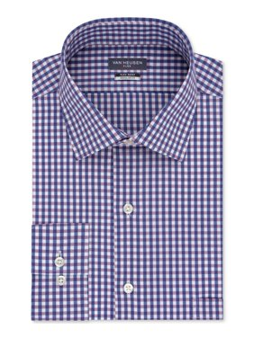 Van Heusen Mens Plaid Print Button Down Shirt