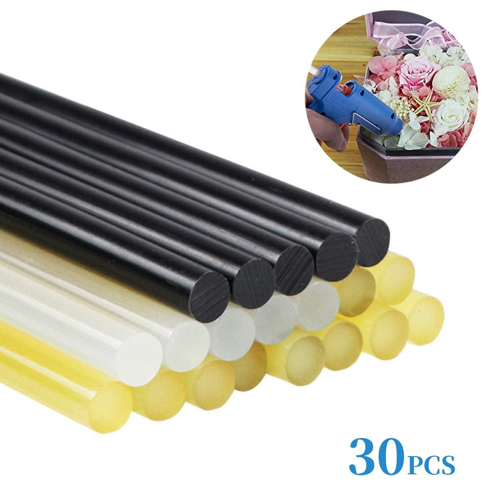 30pcs Hot Glue Sticks for Hot Glue Gun, 0.43 Inch (11mm) Diameter, 7.5 Inch (190mm) Length (Random Color:... by