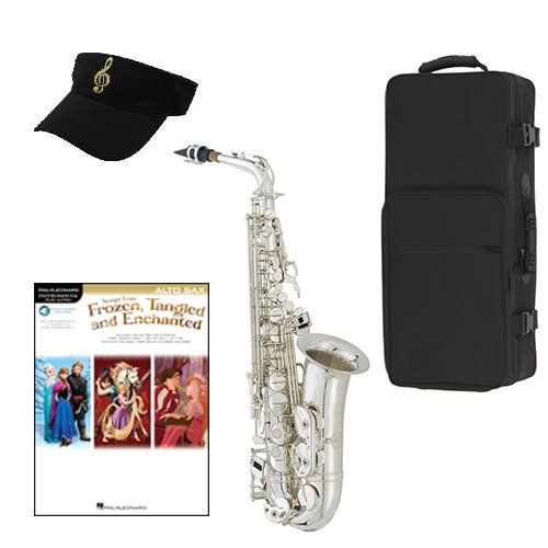 Frozen Tangeled Enchanted Silver Alto Saxophone Pack Includes Alto Sax w Case &... by Band Directors Choice