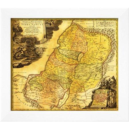Palestine - Panoramic Map Framed Print Wall Art By Lantern Press ...