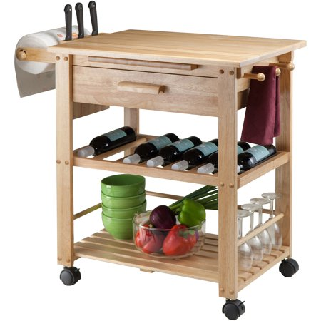 Finland Kitchen Cart, Natural