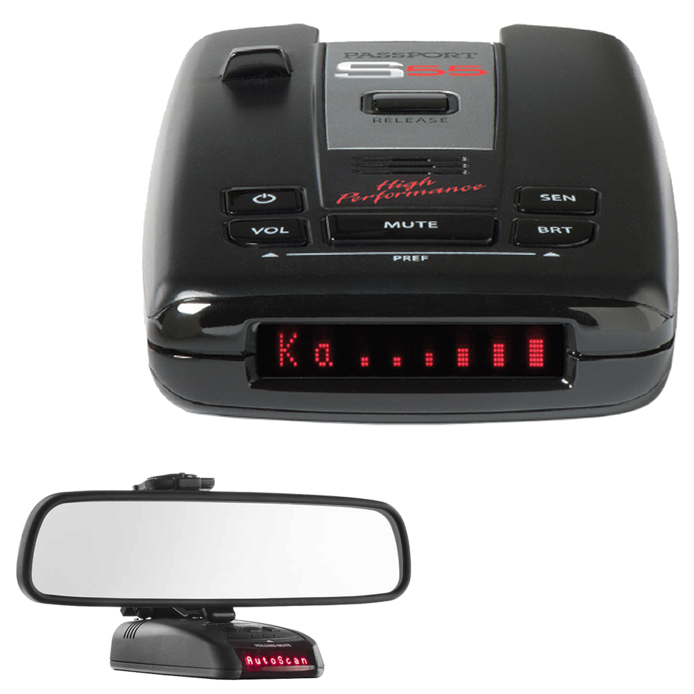 Buy Escort Passport S55 High Performance Radar  Laser Detector with RadarMount Car Mirror Mount Bracket For Radar Detectors by Escort