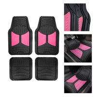 Monter Eye 2 Tone Black Pink Floor Mats for Car SUV Van All Weather Universal Fitment