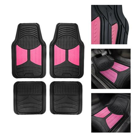 Monter Eye 2 Tone Black Pink Floor Mats For Car Suv Van
