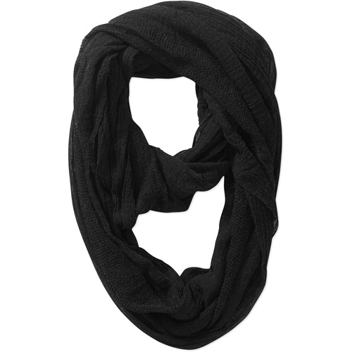 Faded Glory Women's Gauze Lightweight Infinity Scarf