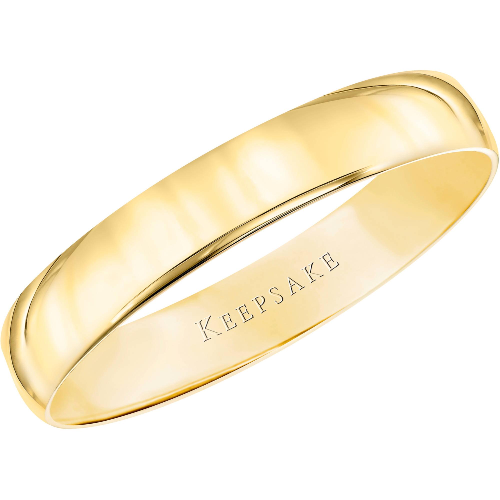 Keepsake 10kt Yellow Gold Wedding Band, 4mm