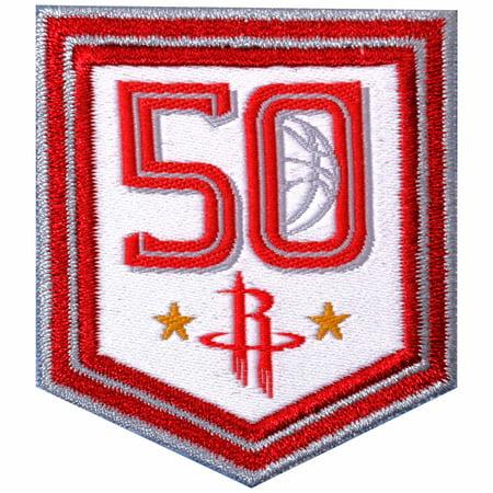 "Houston Rockets 2"" x 2"" 50th Anniversary Commemorative Patch - No Size"
