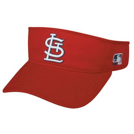 St Louis Cardinals MLB OC Sports Sun Visor Golf Hat Cap Red w/ White SL Logo ()